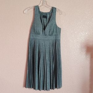 Pre-owned Sleeveless Dress Silver sparkles